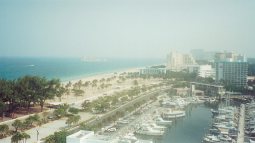 A view of Ft. Lauderdale from the convention hotel. -- CLICK TO ENLARGE